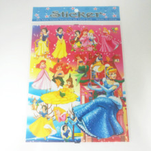 6pcs/lot Princess Stickers Decals PVC DIY Waterproof Cute Funny Party Supplies