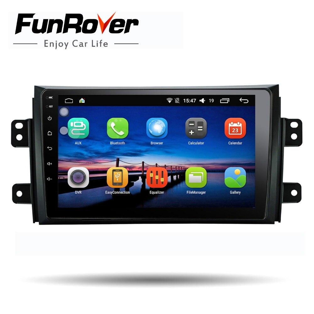 Funrover 9 ''2 din Android 8.0 Lecteur dvd de Voiture pour Suzuki SX4 2006-2013 autoradio gps Navigation lecteur multimédia Quad Core RDS