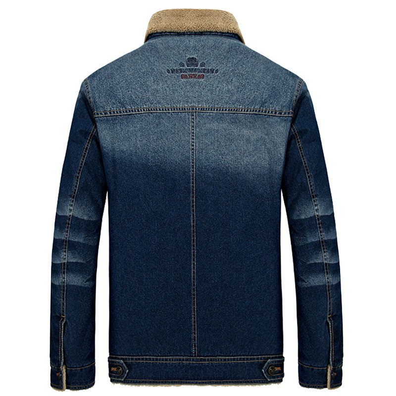 M~4XL New Retro Warm Denim Jackets Mens Jeans Coats Winter Jackets Brand AFS JEEP Thicken Denim Coat Men Outwear Male Asian Size (3)