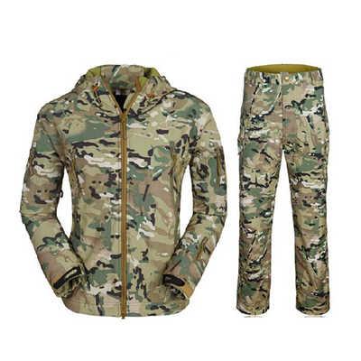 الشتاء سترة الرجال عارضة الرجال معطف الجيش التمويه العسكري التكتيكي سترات و معاطف للماء ويندبروف الملابس s-3xl