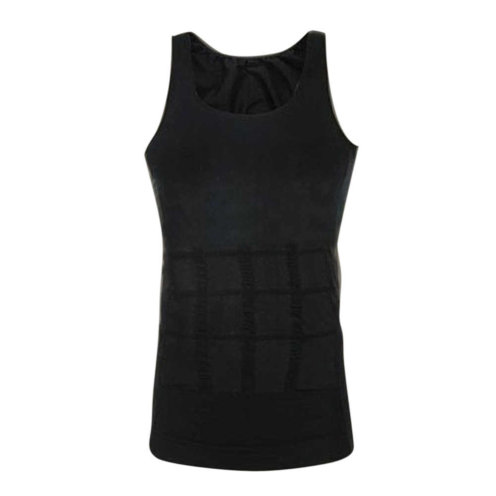 Mens Vest Undershirt Body Shaper Undershirt Men Bodyuilding Slim Tight Bodysuit Croset Abdomen Training Compression Singlet