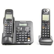 2 Teléfonos KX-TG6641 serie Digital DECT 6.0 teléfono inalámbrico Teléfono Inalámbrico con contestador automático Negro