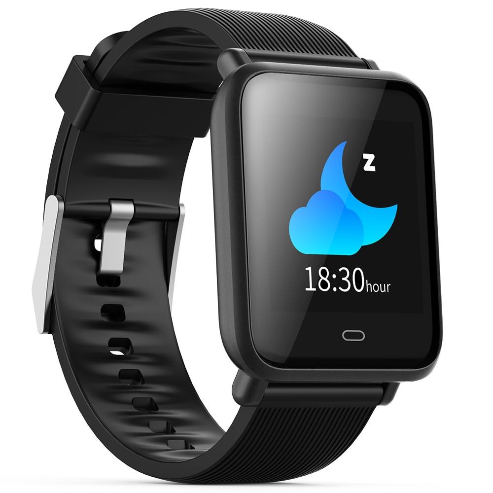 72a97a956081 Bluetooth inteligente reloj de las mujeres de los hombres Monitor de ritmo  cardíaco sangre presión pulsera