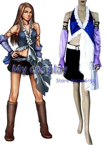 Anime Final Fantasy Cosplay - Final Fantasy XII Yuna Lenne Song Women's Performance Costume Cosplay Costume Freeshipping image