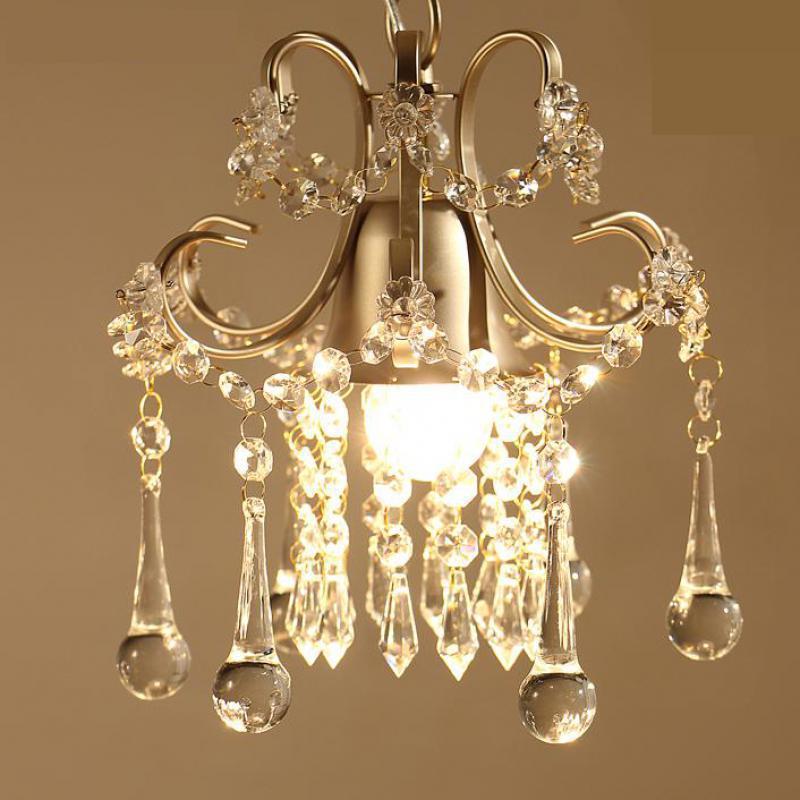 Crystal pendent lamp E27 110V-240V  Modern pendent  Crystal Light For Living Room Modern Led Lustre