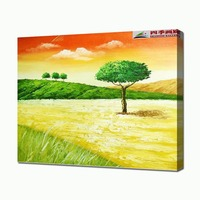 Handmade Modern Scenery Oil Painting Yellow Landscape Paintings Picture On The Wall No Frame Free Shipment Home Decorative