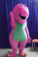Custom Purple Barney Mascot Costumes Christmas Birthday Party Womens Mens Mascots Suit Fancy Dress Carnival Outfit Adult Size
