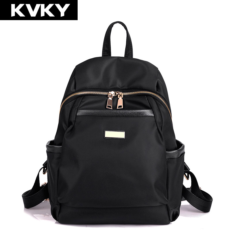 KVKY New Womens Backpack Waterproof nylon backpacks Travel Bags Student School Bag Girl Backpacks Casual Travel