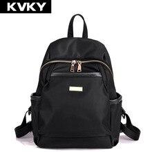 Kvky новых женщин рюкзак водонепроницаемый нейлон рюкзаки дорожные сумки студент мешок школы девушка рюкзаки случайные путешествия рюкзак bolsas