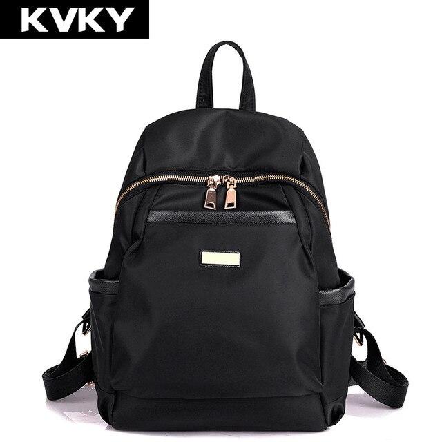 6c96dee4f8f KVKY New Womens Backpack Waterproof nylon backpacks Travel Bags Student School  Bag Girl Backpacks Casual Travel