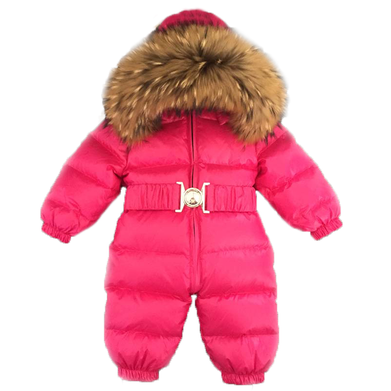Baby Jumpsuits Boy Girl Winter Overalls Baby Romper White Duck Down Jumpsuit Raccoon Fur Collar Children Outerwear Kids SnowsuitBaby Jumpsuits Boy Girl Winter Overalls Baby Romper White Duck Down Jumpsuit Raccoon Fur Collar Children Outerwear Kids Snowsuit