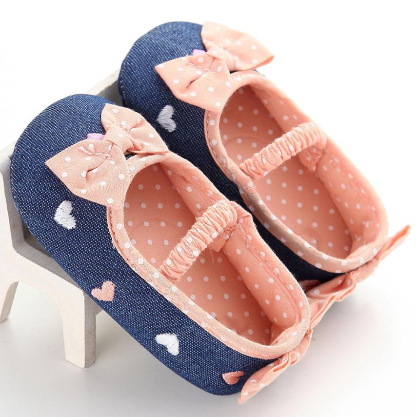 2018 Cute Baby Infant Kids Girl Soft Sole Crib Toddler Newborn Shoes For Baby G1207