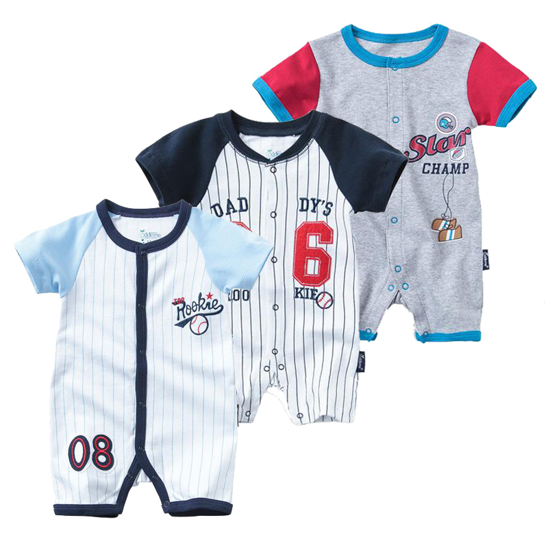 cc7ba36da5ef Detail Feedback Questions about 2019 Summer Football Sport Baby Bodysuit  Short Sleeved Climbing Newborn Baby Boy Clothes Cotton Numeral Jumpsuit  Children ...