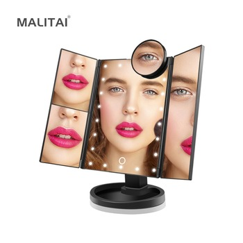 Touch Control Dimmable 22 LED Vanity Mirror light Bulb 1X/2X/3X/10X Magnification Makeup Mirror Dressing Table lamp Beauty Tools