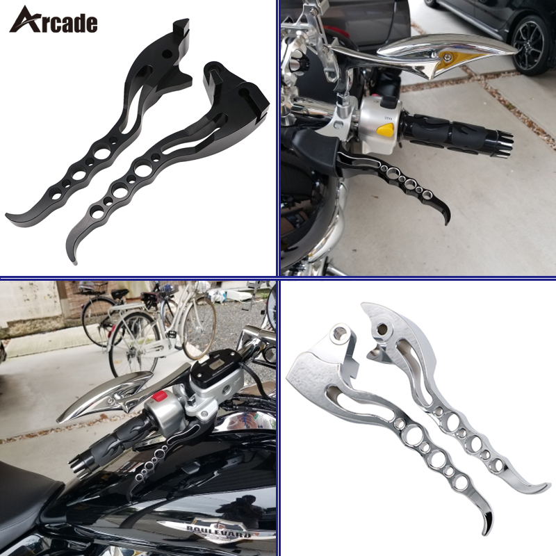 Arcade Motorcycle Brake Clutch Levers Black Chrome Loopholes For Suzuki Boulevard M109R M109 2006 - 2014 2015 2016 2017 m109
