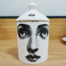 Bin Candle-Holder Ceramic Quirky Jewerlly Home-Decorative Cup Face Jar Storage-Box Cafts