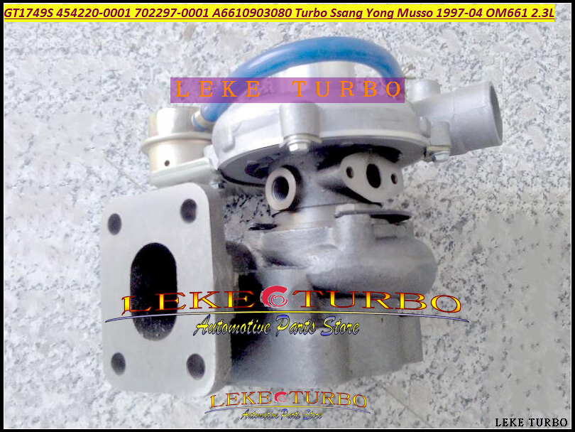 TURBO GT1749S 454220 454220-0001 454220-5001S 702297 702297-0001 A6610903080 Turbocharger For Ssang Yong Musso 97-04 OM661 2.3L браслет bradex as 0001