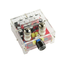 Fever 6J1 Tube Amplifier Preamplifier Board HIFI A Volume Control Tone Preamp Board Dual Channel Amp Bile Buffer DIY With Case 1pc tube amplifier audio boards high quality 2 0 channel pre amp audio mixer 6j1 valve bile buffer amplifier audio board diy kit
