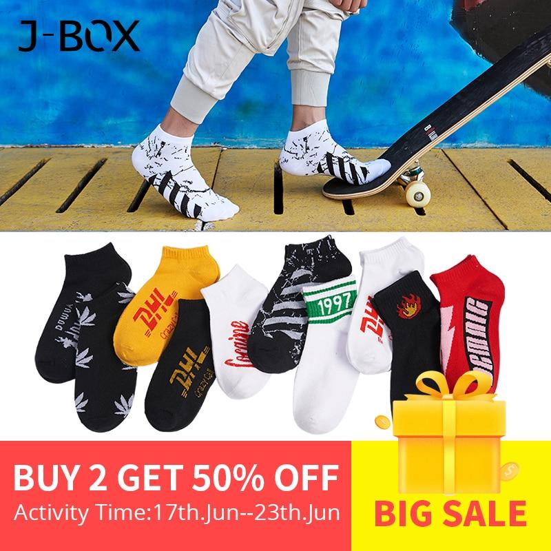 J-BOX 10 Pairs Cotton Happy Men   Socks   DHL Cool Hip Hop harajuku Short   Sock   Skateboard Autumn Winter Breathable Ankle Funny   Socks