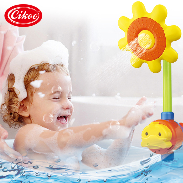 Yellow Duck Shower Head For Kids Faucet Water Spraying Tool Baby Bath Childrens Toys
