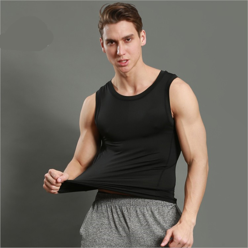 Men Muscle Sleeveless Fitness Body Compression Tight Tank Tops Shirt Summer Vest