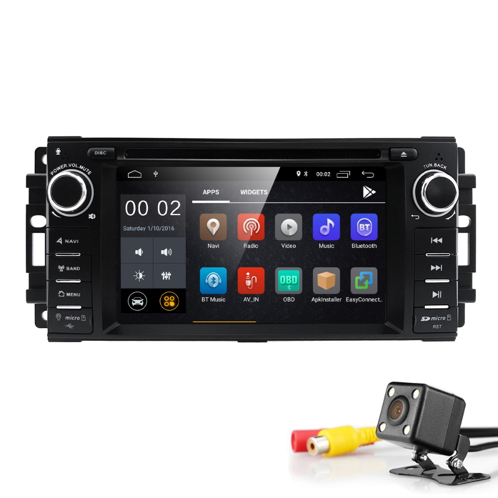 2 din Auto Radio Android 8.1 Car DVD Player For Chrysler 300c jeep Compass/Dodge/RAM/Grand Cherokee Wrangle GPS Navi Head Unit loreada throttle body 4861661aa 4861661ab for jeep grand cherokee liberty dodge dakota nitro ram 1500 3 7l 3 8l