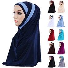 2PCS มุสลิม Hijab อิสลามภายใต้ผ้าพันคอ Bonnet Ninja ฝาครอบด้านในหมวกอาหรับสวดมนต์หมวกสุภาพสตรีรอมฎอนแฟชั่น Turban