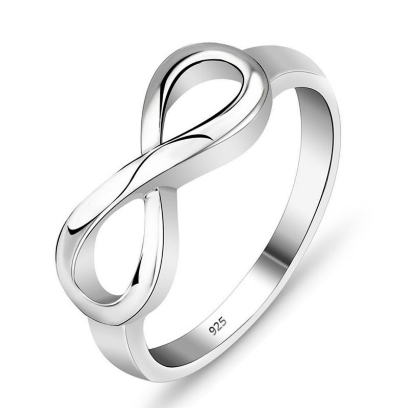 Silver Infinity Ring Best Friend Gift Endless Love Ring Infinity