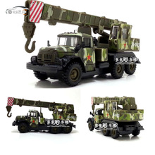 High simulation military model,1:43 scale alloy pull back Russian kamas crane truck,toy cars,free shipping