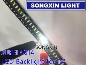 50 шт. JUFEI 4014 светодиодный фонарь, 100 шт. светодиоды средней мощности Светодиодный 0,5 Вт 3 в 4014 холодный белый ЖК-подсветка для ТВ приложения