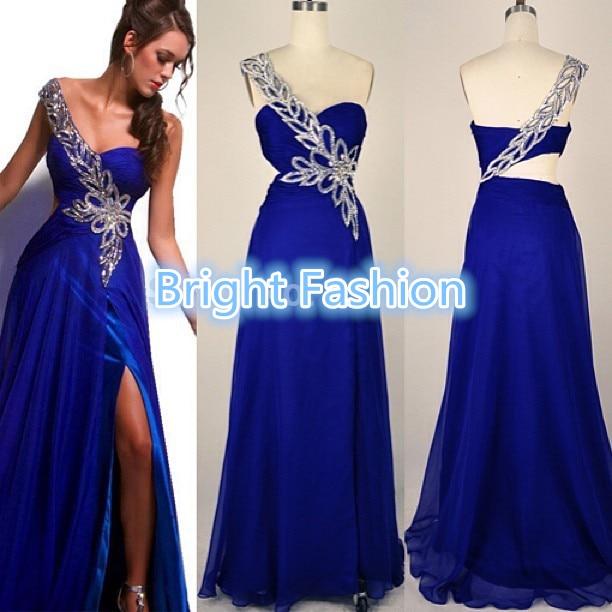 Vestidos de gala largos en azul