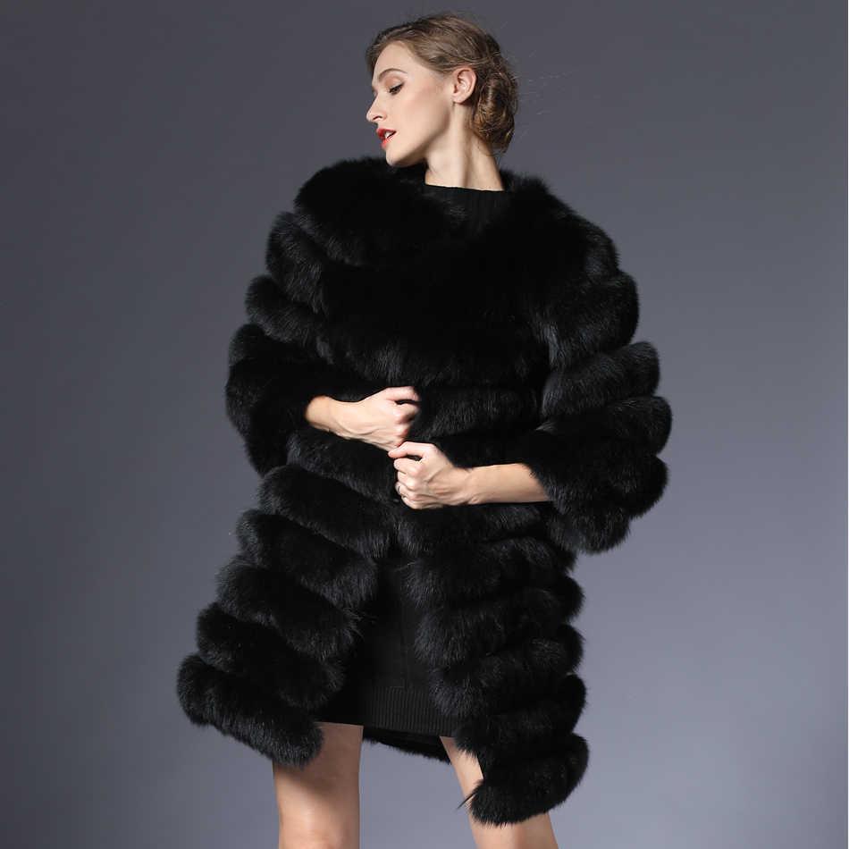 Vrouwen Bontjas Vos Real Natuurlijke Winter Echte Natuurlijke Vrouwen Vos Bontjas Met Bont Vest Meisje Jas Womens Vesten fox Jassen DHL