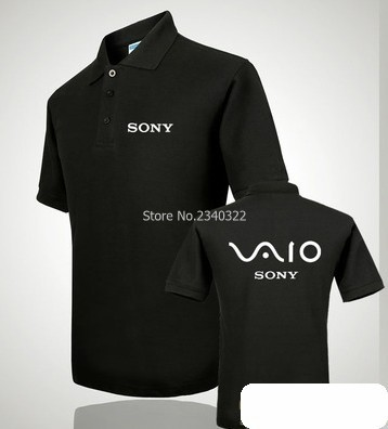 c4e95342ef1 Sony overalls polo shirt lapel new men and women clothes shop SONY polo  shirt custom tooling clothing