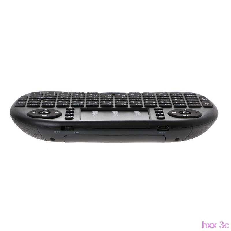 جديد الإنجليزية 2.4 GHz اللاسلكية i8 لوحة المفاتيح لوحة اللمس يطير ماوس هوائي لالروبوت التلفزيون PS3