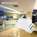 BC-835-DIN-RJ45 DC12-24V вход 5А * 5CH выход  din-рейка 5CH CV ШИМ DMX512/1990 Декодер контроллер для светодиодной полосы света