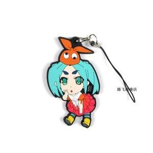 Image 5 - Nisemonogatar Oshino Shinobu Hachikuji Mayoi Kanbaru Suruga Action Figure Anime Model Rubber Keychain Pendant Christmas Toys 6cm
