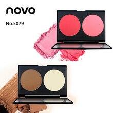 NOVO brand face 2 color blushpowder + Trimming highlight powder panel makeup bro
