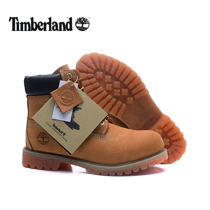 TIMBERLAND Original Brand New Classic Men's Ankle Boots For Men Male Genuine Cow Leather Anti-Slip Premium 10061 High-Top Shoes