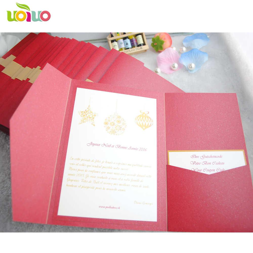 Wholesale Fancy Wedding Invitation Cards Laser Cut Glitter Paper