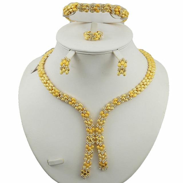 indian jewelry dubai gold jewelry sets women fashion necklace fine