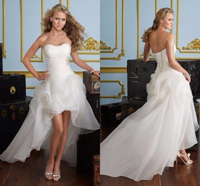 backless atractivo corto barato vestidos de novia cortos vestidos de