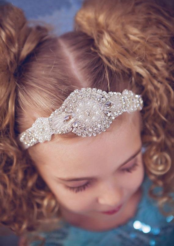Retail Baby Girl Luxury Headband Wedding Headbands Kids Hairband with Crystal  Pearl 652b12e6c708
