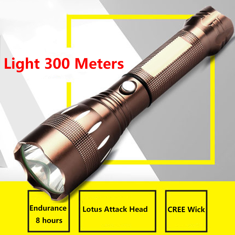 LED light flashlight home bike can be used to charge outdoor anti-body long shot mini night ride waterproof