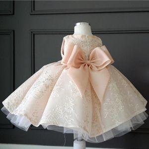 Image 3 - Childrens Wedding & party dress Flower Girl Dresses princess Girls O neck sleeveless print big bow Ball Gown Tutu Dress