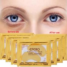 цена на efero 40pcs=20pairs Gold Eye Mask Moisturizing Collagen Crystal Eyelid Mask for the Eye Care Anti-Puffiness Beauty Eye Patches
