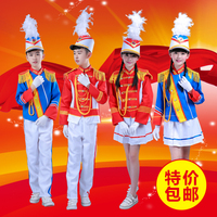 2017 new flag raising hand clothing primary secondary school students young pioneers tube drummer costume 90cm-180cm