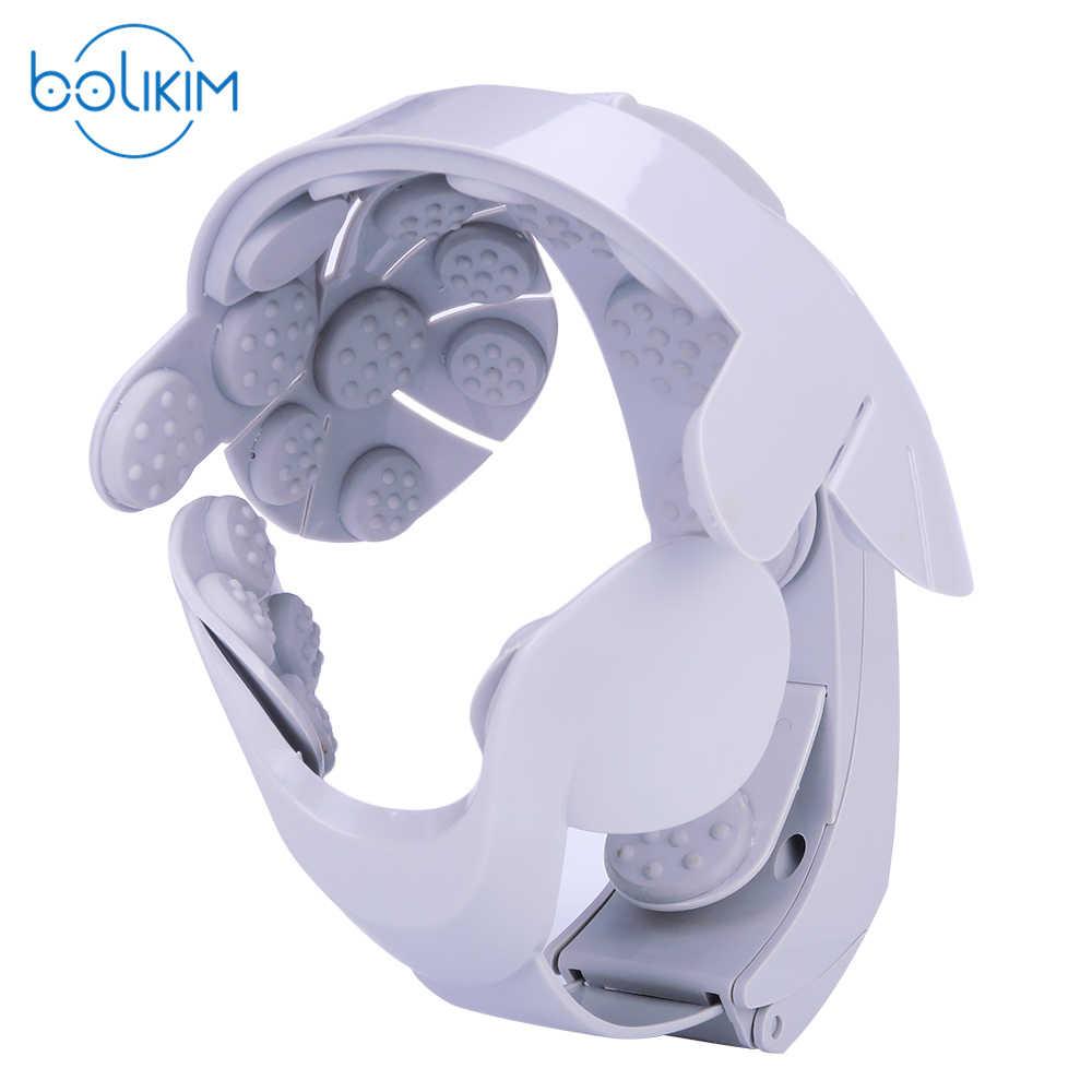 BOLIKIM Merk Gehumaniseerd Ontwerp Electric Head Massager Brain Massage Relax Gemakkelijk Acupunctuurpunten Mode Grijs Bevorderen Haar Groeien