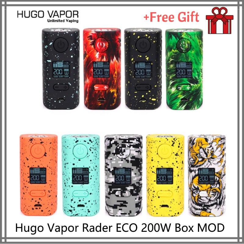 Original E cigs Hugo vapeur Rader ECO 200W boîte MOD léger Cigarette électronique double 18650 vs Thro Pro Vape mod dovpo double