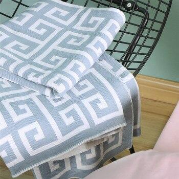 Plaid Spring/Autumn 100% cotton warm Hand Wash gentle mechine wash Grade A Thread Blanket/Towel Blanket