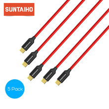 Suntaiho 5-Pack Micro USB Cable Fast charger Data Cable for Samsung s5 s6 s7 Xiaomi Note 4 Huawei P9 P8 Mobile Phone Cables